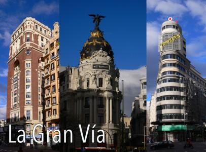 La Gran Vía de Madrid - Edificio Palacio de La Prensa, Edificio Metrópolis y Edificio Carrión